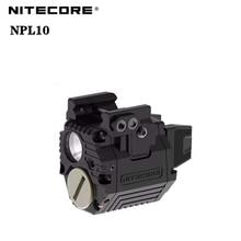 NITECORE NPL10 Tactical lamp 635nm+300 Lumens Universal Subcompact Red Laser Pistol Light With CR2 B