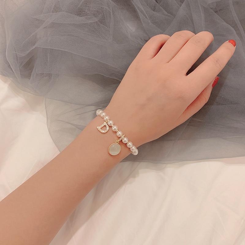Retro Elegant Pearl Bracelet Ins Special-Interest Design Simple Super Fairy Bracelet Internet Celebr