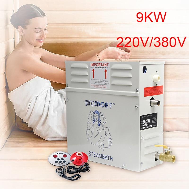 مولد بخار 9KW, مولد بخار 9KW | للاستحمام ، 220 فولت/380 فولت ، معدات ساونا ، حمام ، منتجع صحي ، دش بخاري ، تحكم رقمي