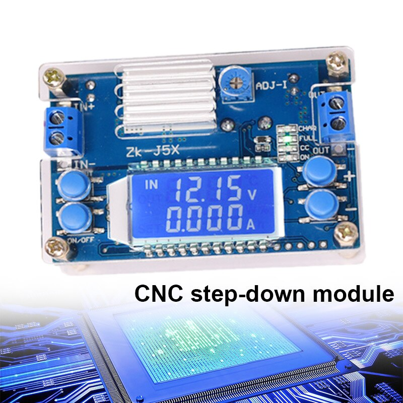 Voltímetro de fuente de alimentación regulada ajustable con pantalla LCD de 24V/12V/LG66 5V, módulo reductor alto 5A DC-DC