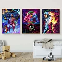 graffiti astronaut poster wall art nordic decoration cartoon astronaut space canvas painting picture childrens bedroom home dec