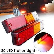 1 pièces 20 feu arrière LED voiture camion remorque arrêt arrière clignotant clignotant lampe