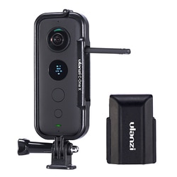 Ulanzi Kunststoff Schutzhülle Rahmen für Insta 360 One X Gehäuse Käfig mit Kamera Objektiv Kappe Action Kamera Adapter Kit