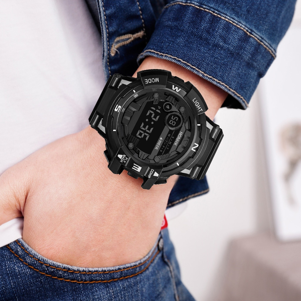Reloj Digital LED de alta marca para hombre, reloj con alarma de fecha, impermeable, deportivo, Para exteriores, para hombre, reloj deportivo Masculino