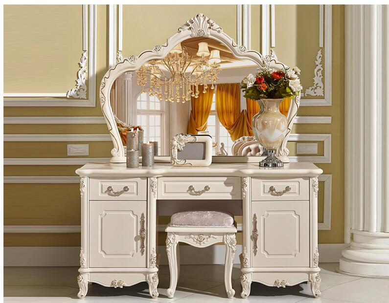 Туалетный столик в европейском стиле для спальни, роскошный туалетный столик принцессы, простой шкаф для хранения