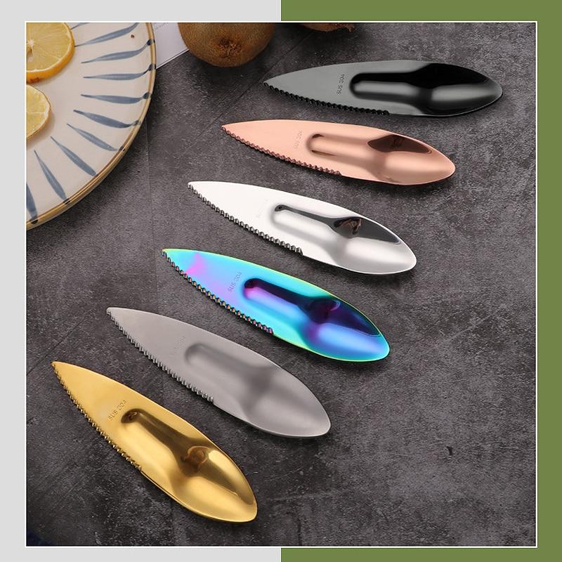 Cuchillo de fruta multifuncional de acero inoxidable 304, divisor de cuchara para abrir fruta, artefacto para abrir fruta de la Pasión