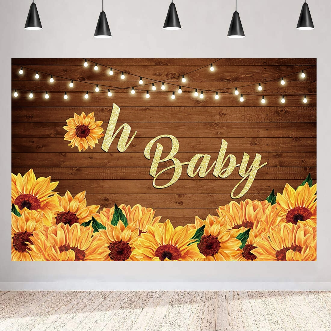 Oh Baby Photo Backdrop Newborn Happy Birthday Party Cartoon Animal Bar Children Baby Shower Photography Backgrounds Banner