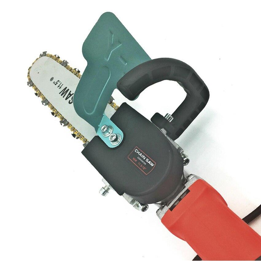 2020 más nuevo soporte de motosierra eléctrico de 11,5 pulgadas Universal ajustable M10/M14/M16 sierra de cadena parte amoladora angular en sierra de cadena