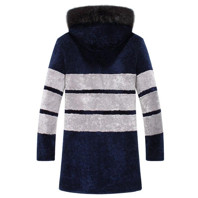 Casaco de lã natural dos homens casaco de lã para roupas masculinas plus size veste homme 1688-1 yy861
