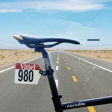 Vtt vélo Triathlon course porte-plaque dimmatriculation bricolage cyclisme plaque numéro porte-carte arrière porte-permis numéro tige de selle porte-carte