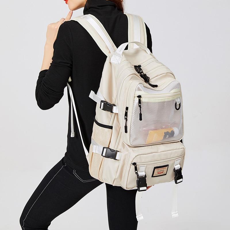 Mochila de Nylon de alta calidad para mujer, bolso de viaje impermeable...