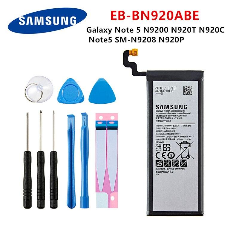 SAMSUNG Orginal EB-BN920ABE 3000mAh Battery For Samsung Galaxy Note 5 N9200 N920T N920C N920P Note5