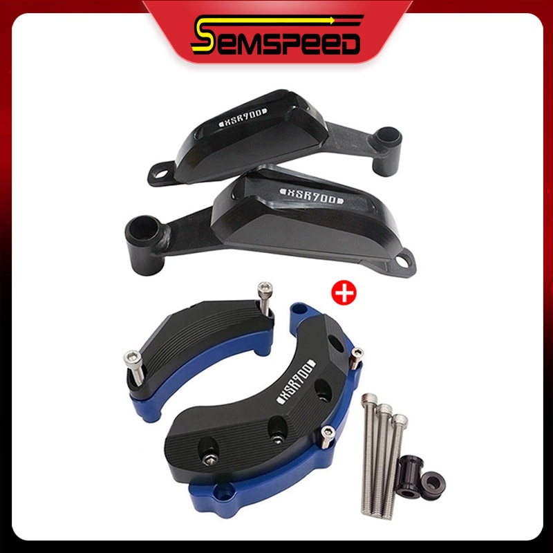 For YAMAHA MT-09 FZ-09 2014-2020 XSR900 SEMSPEED Motorcycle Falling Protection Frame Slider Engine Case Cover Anti Crash Pad недорого