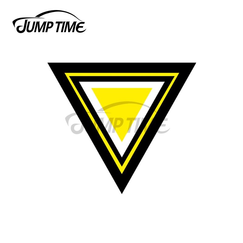 JumpTime-parachoques de calcomanía para coche, pegatina de vinilo impermeable de 13x9cm para...