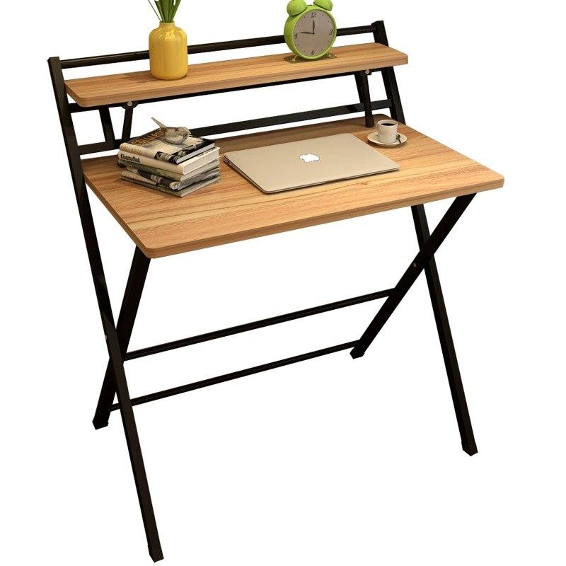 Mesa de ordenador, mesa sencilla plegable, mesa de estudio, escritorio sencillo para hogar, Oficina para estudiantes, mesa pequeña multifunción
