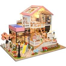 Bricolage à la main en bois jouets escalier meubles accessoires maison de poupée Mini Miniature cadeaux enfants Arts maison enfants
