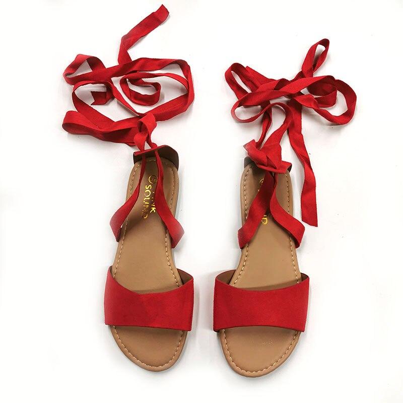 ¡Novedad de 2020! Sandalias de verano para mujer, Sandalias planas aterciopeladas con tiras cruzadas, sandalias tipo serpiente, zapatos de gladiador transpirables con punta abierta