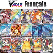 New Pokemon Cards in French Chilling Reign Latest Vmax V Energy Holographic Rainbow Game Card Kids T