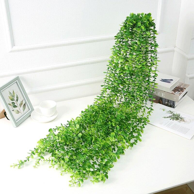 120 см искусственные растения зеленый лист Плющ лоза стены висячие дома свадьба Decora сад гостиная клуб бар Украшенные поддельные листья
