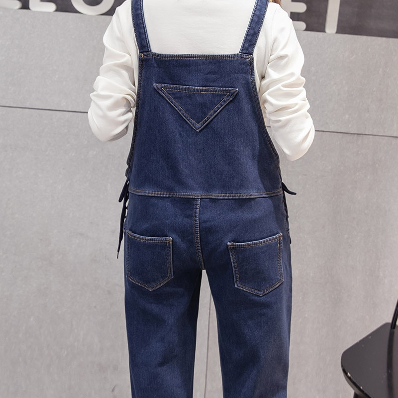 Denim Maternity Strap Bib Jeans Trousers Suspenders Pants for Pregnant Women Overalls Jumpsuits Pregnancy Clothing Plus Size enlarge