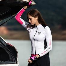 산티크 여자 사이클링 유니폼 긴 소매 프로 맞는 도로 자전거 MTB 탑 유니폼 봄 여름 사이클링 아시아 크기 S-2XL L8C01093