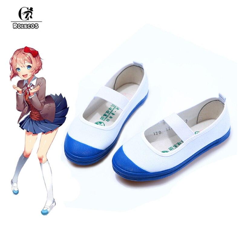 ROLECOS Doki/Обувь для костюмированной вечеринки в литературном клубе; Школьная обувь японского аниме; Спортивная обувь для девочек; Hanako-kun Yashiro Nene