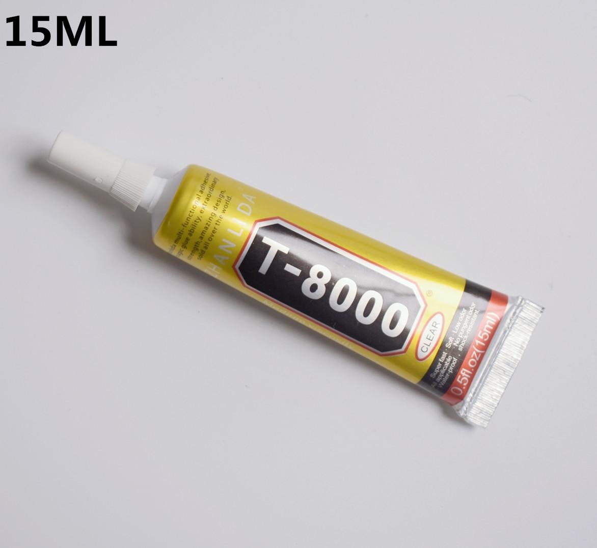 1 Pc 15ml T-8000 Glue T8000 Multi Purpose Glue Adhesive Epoxy Resin Repair Cell Phone LCD Touch Screen Super DIY Glue T 8000