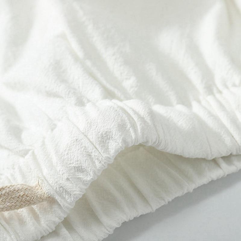 summer men pajamas sleep wear home wear tops plus size 7XL 8XL 9XL short sleeve tees and pants linen cotton pajamas v-neck 70 68