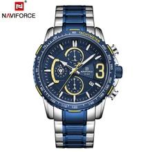NAVIFORCE LED Dual Disply Watch For Men Fashion luxyry Quartz Man Watches Military Sport Waterproof