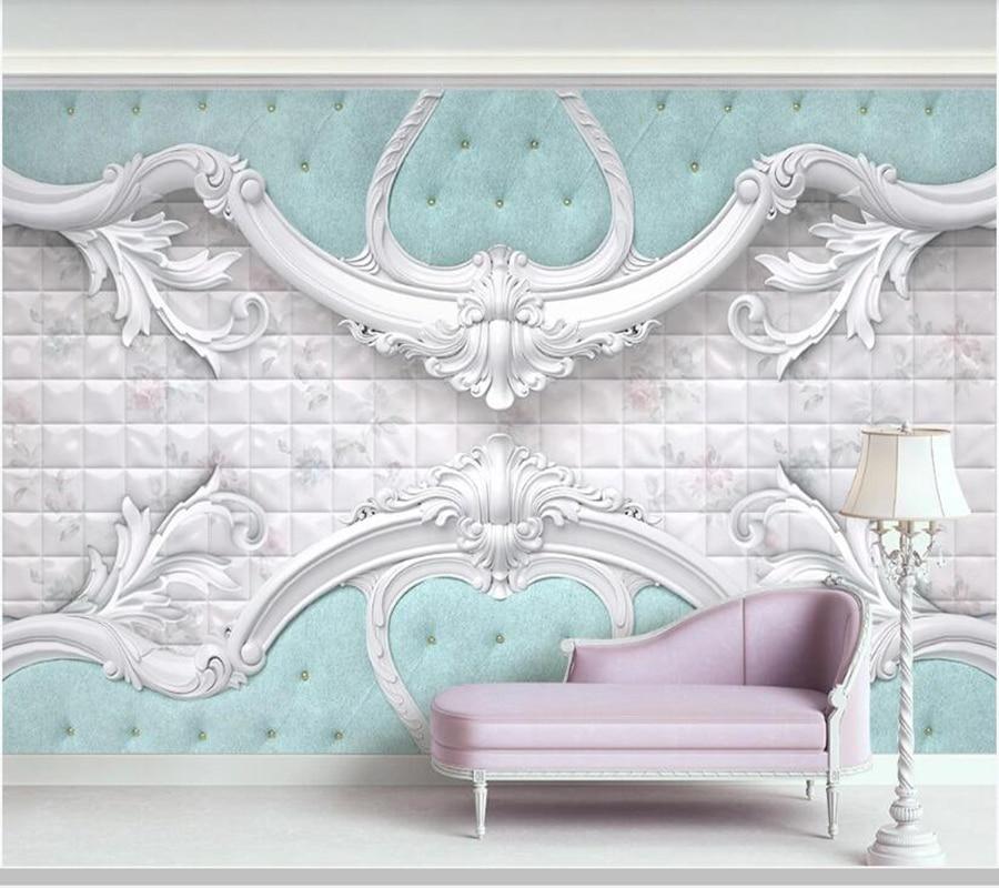 Papel de pared de lujo en relieve blanco suave bolsa estilo europeo Papel tapiz 3d, sala de estar dormitorio papeles pintados para cocina mural para el hogar
