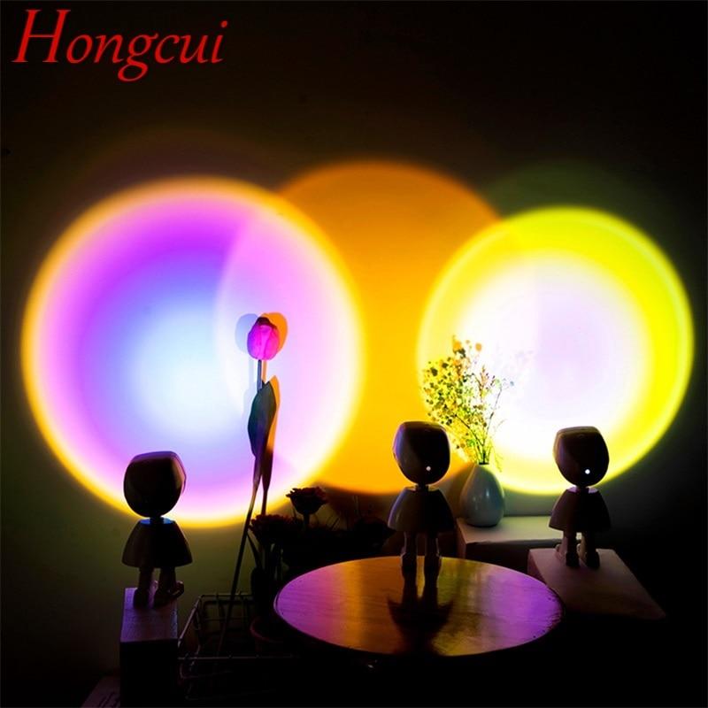 Hongcui LED Sunset Novel Light Contemporary Creative Cartoon Robot Atmosphere Lamp For Children