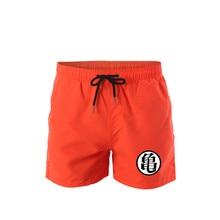 Dragon Ball Beach Shorts Men Bottoms Quick Dry Print Swimming Surfing Shorts Summer Draw String Elastic Waist Short Men Swimwear