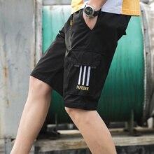 New Casual Men's Short Pants Cotton Breathable Pocket Shorts For Man Clothing  Streetwear Men Shorts