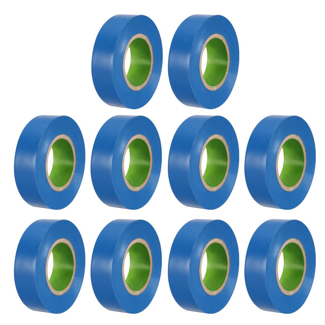 Uxcell شريط عازل 18 مللي متر/0.7 بوصة عرض 20M/65.6ft طويلة 0.1 مللي متر سميكة شريط PVC للأغراض الكهربية 10 قطعة