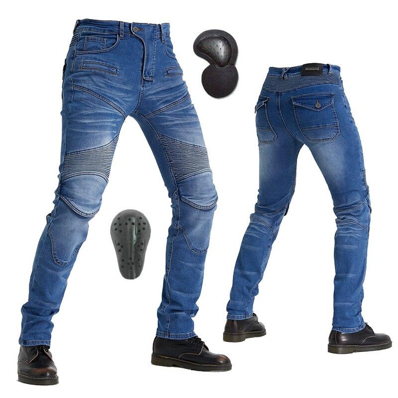 Komine MOTORPOOL Protect Equipment Gears Jeans Leisure Summer Motorcycle Men's Off-road Outdoor Jean cycling Pants Blue Black