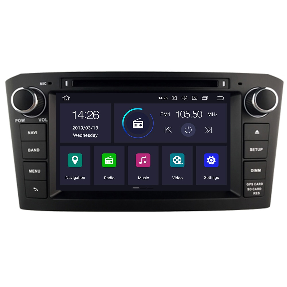 4G RAM Android 10 Radio de coche GPS Multimedia estéreo reproductor de DVD para Toyota Avensis T25 2003-2008 Audio de coche WIFI Video de navegación