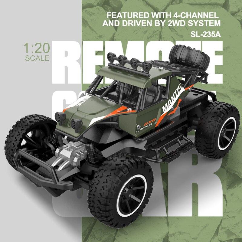 Coches Rc 2,4G Rc coches de juguete todoterreno 4CH coche de Radio Control 1/20 coches de carreras de alta velocidad juguetes para niños todoterreno coche eléctrico juguete para regalo