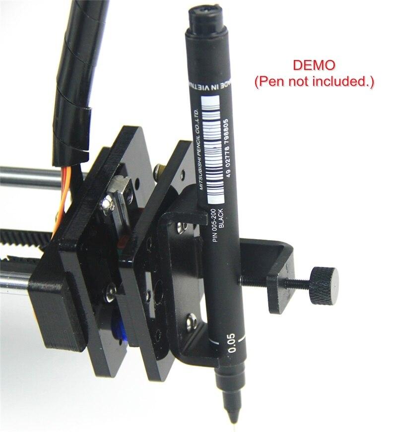 ل رسم روبوت آلة حروف XY-الراسمة DIY المعادن قلم رصاص القلم الكرة نقطة القلم كيت مع كليب المشبك الأسلاك مربع السكك الحديدية داخل