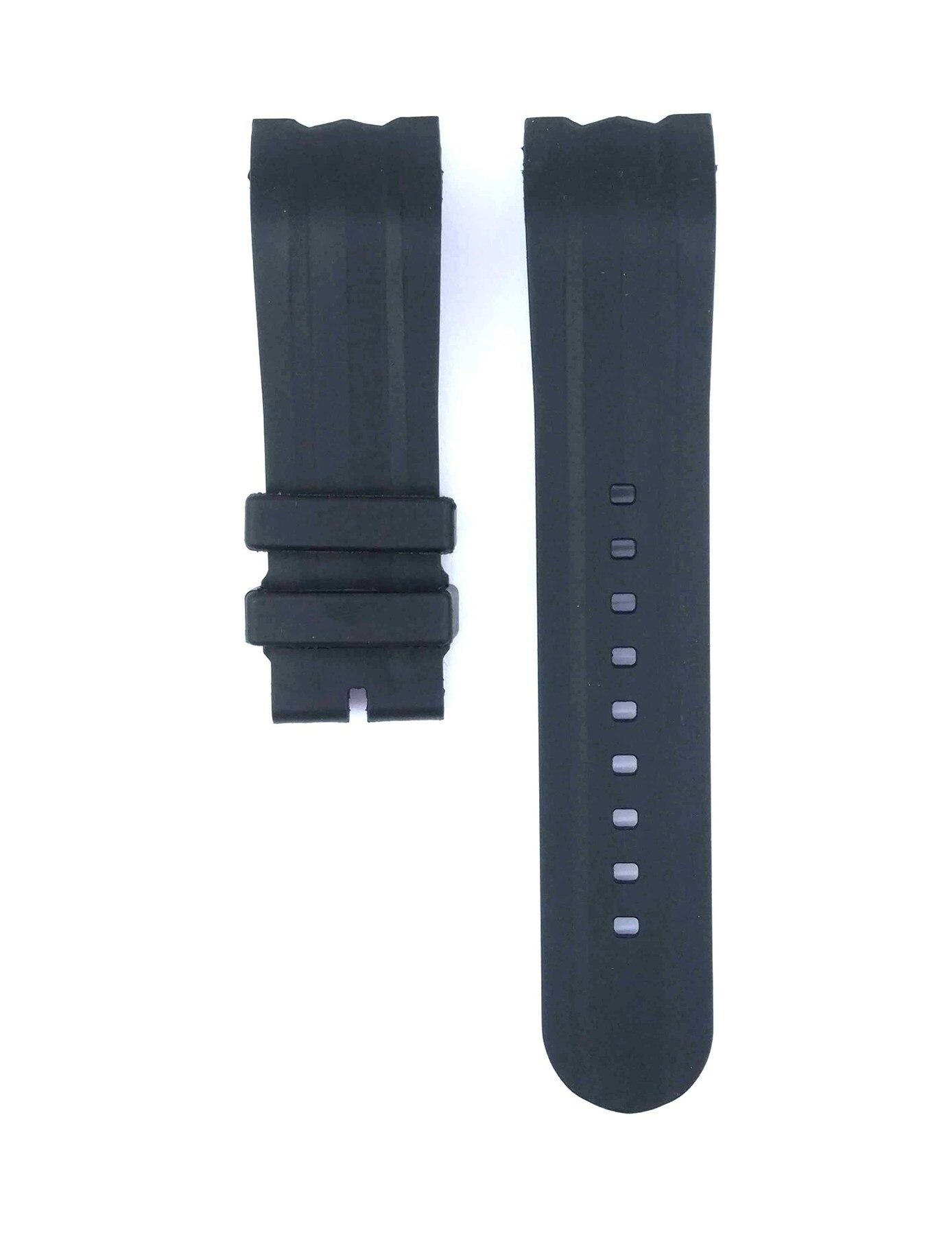 212ZTD correa de reloj de goma negra Compatible con Nautica NST 101 N17591G 24mm 475NTC