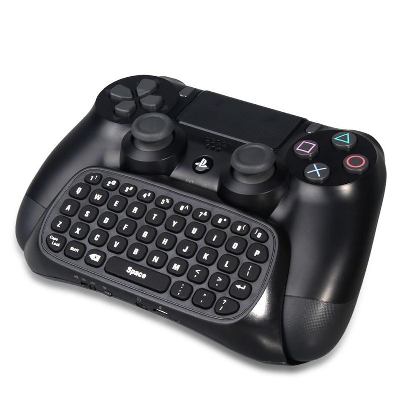 Mini teclado controlador de teclado inalámbrico mensaje de texto con luz de fondo azul para Sony PS4/PS4 Delgado/PS4 Pro