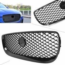 Auto voiture pare-chocs avant Grille pour Jaguar XE 2015 2016 2017 2018 brillant noir ABS plastique voiture accessoires