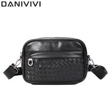 Fashion Bag for Men Shoulder Bag Woven Leather Work Messenger Sacoche Homme 2021 Crossbody Bag Cell