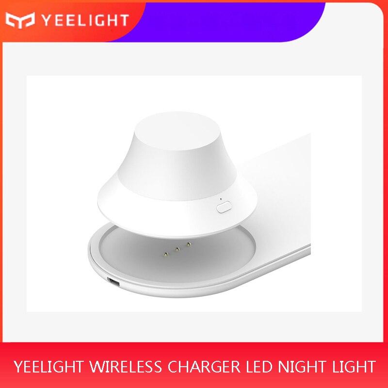 Yeelight-شاحن لاسلكي مع إضاءة ليلية LED وضوء مغناطيسي وشحن سريع لأجهزة iPhone و Samsung و Huawei