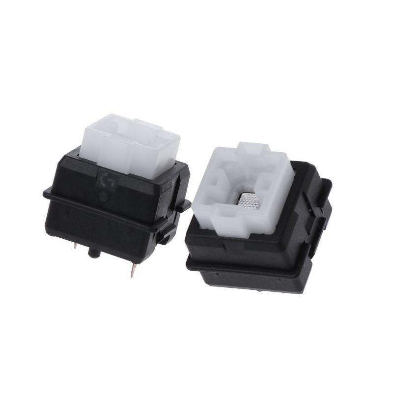 2 pçs original romer-g interruptor omron eixo para logitech g910 g810 g413 k840 rgb eixo interruptor de teclado r9ja