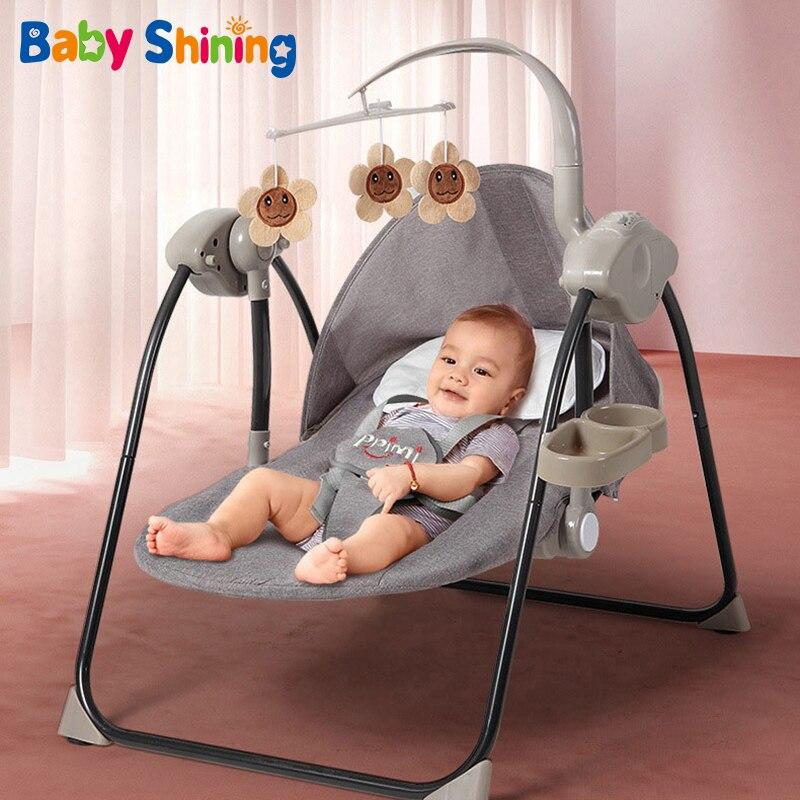 Coax-كرسي هزاز كهربائي للأطفال من 0 إلى 2 سنة ، مهد نوم للأطفال حديثي الولادة ، مريح ، مستلق