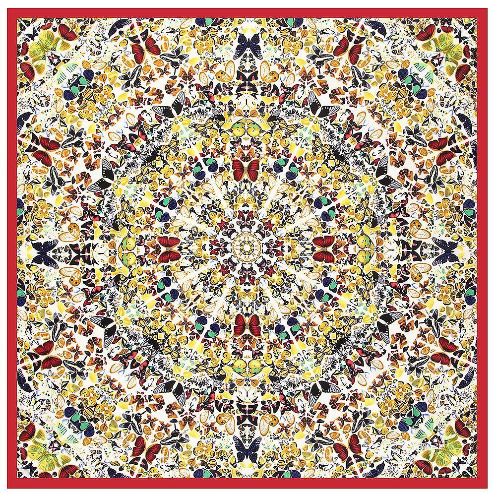 130*130CM Luxury Brand 100%Twill Silk Woman Scarf Square Scarves bird paying homage to the phoenix Silk Scarf&Wraps Hijab
