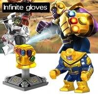 marvel superhero big size iron man with gauntlets hulk spooky venom thanos spiderman doll building blocks childrens toys
