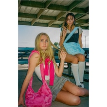 Women NEW Lamb Like Fabric Shoulder Tote Canvas Fluffy Fur Messenger Bags Handbags Y2K Hot E-Girls G