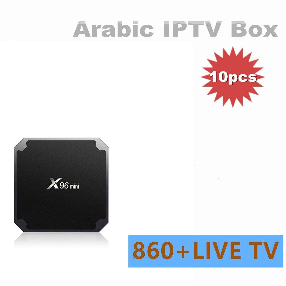 10 Uds vida IPTV arábico gratis soporte de caja HD IPTV África árabe Fr Suecia Túnez Canales IP TV árabe un pago de tiempo