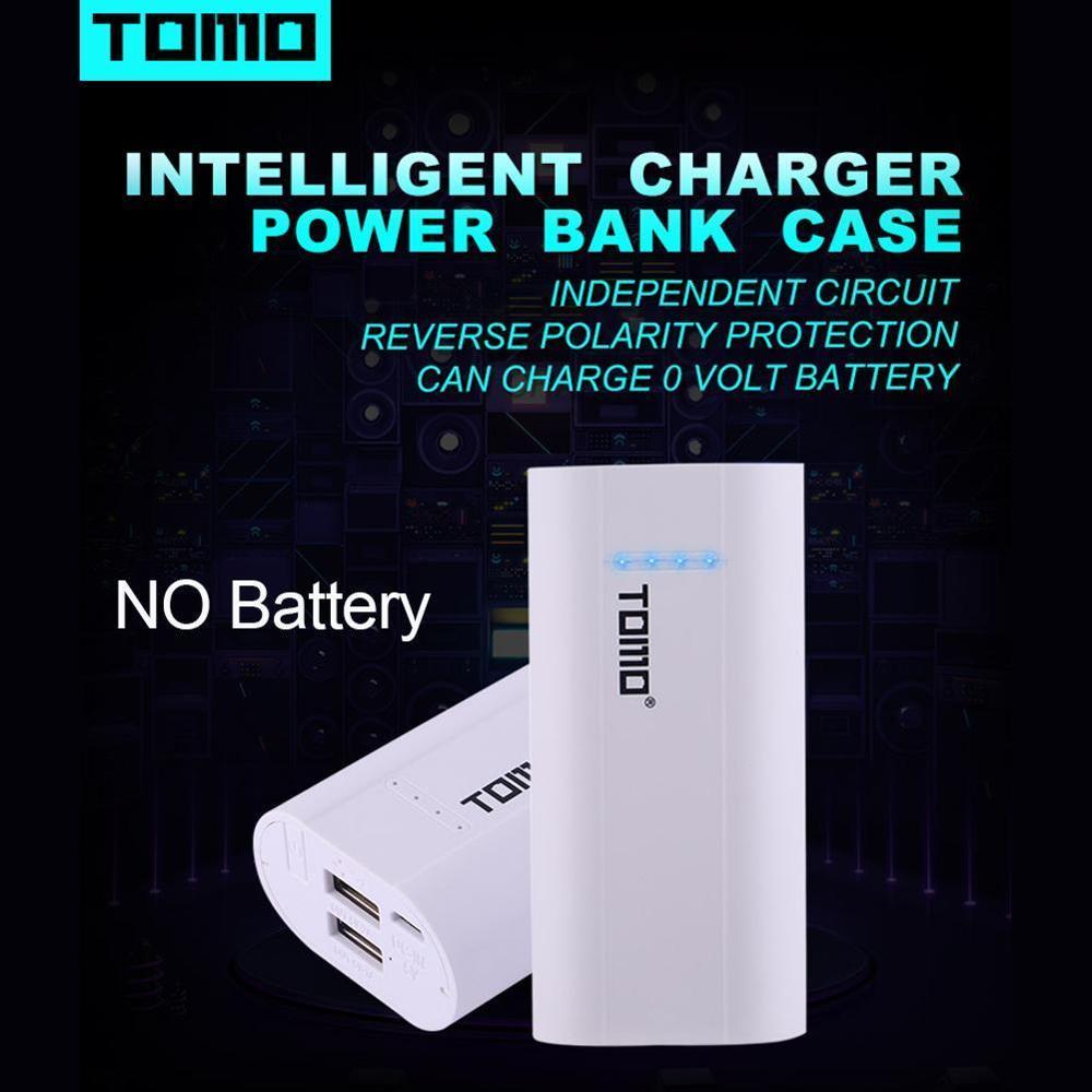 Cargador de batería TOMO 26650 18650, cargador inteligente de batería, cargador recargable para batería 26650 18650 sin batería